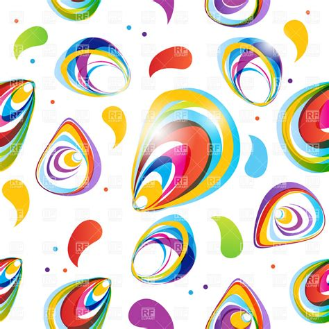 abstract colorful seamless pattern vector clipart image