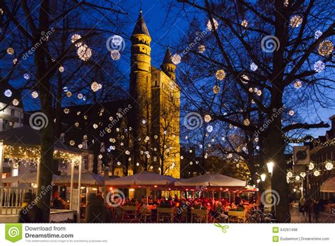 christmas in maastricht editorial stock photo image