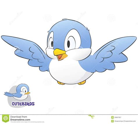 cute cartoon birds  clip art