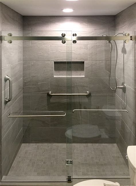 Frameless Bypass Shower Doors Cambridge Frameless Bypass Sliding Shower Door System