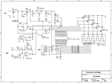 Lux Meter Circuit Atmel Attiny Light Measurement