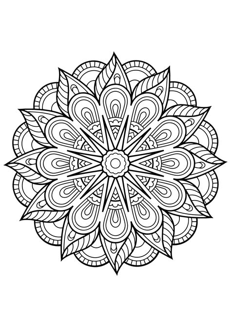 Coloring Mandala by Mandala Livre Gratuit 1 Mandalas Coloriages Difficiles