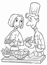 Coloring Pages Chefs Master Disney Cartoon Cheft sketch template