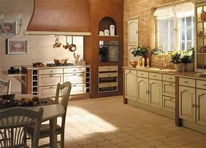 Cuisine Style Ancien : photo le guide de la cuisine cuisine style campagne avec bois sur deux tons de couleur ~ Teatrodelosmanantiales.com Idées de Décoration