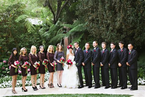 purple and black wedding party elizabeth anne designs