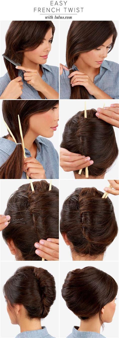 make a french twist hairstyle using chopsticks alldaychic