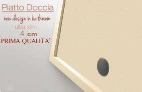 Piatto Doccia 75x80 by Vendita Piatto Doccia 75x80 Cm Altezza 4 Cm Colore Crema