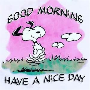 Good Morning Snoopy : it works distributor good morning have a nice day ~ Orissabook.com Haus und Dekorationen