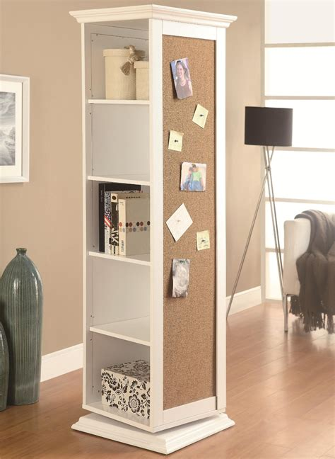 rotating swivel storage mirror and bookcase amazon com coaster home furnishings casual accent