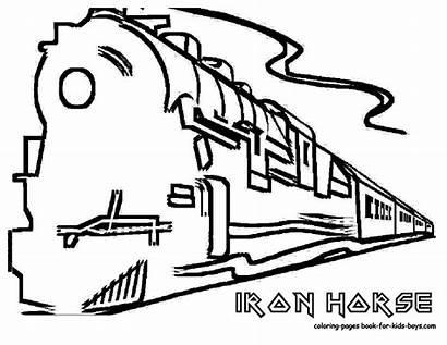 Train Pages Coloring Cartoon Boy Crash Steam
