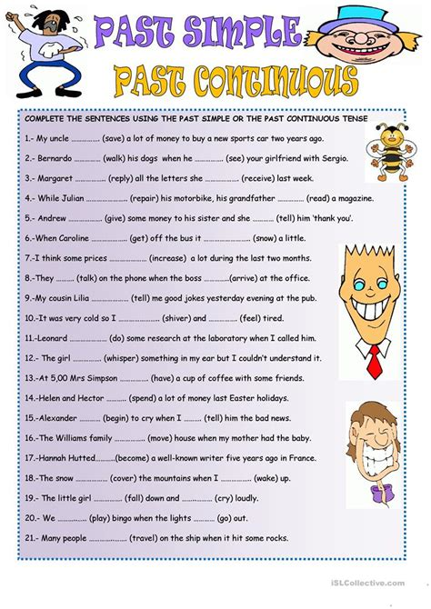 Workbooks » Past Continuous Worksheets  Free Printable Worksheets For Pre School Children
