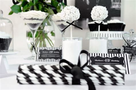 ideas  throwing  black white birthday party