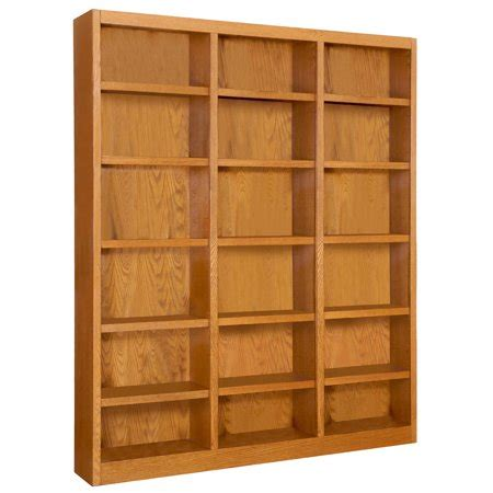 18 Inch Wide Bookcase Wood by 18 Shelf Wide Wood Bookcase 84 Inch Oak