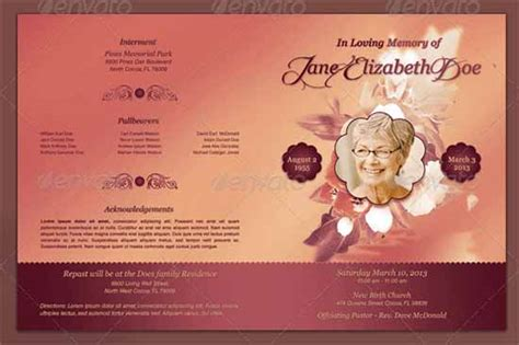 Free Memorial Templates by Free Memorial Templates Word Excel Templates