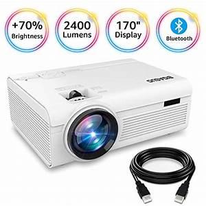 Bigasuo Projector  Portable Bluetooth Projector 2400