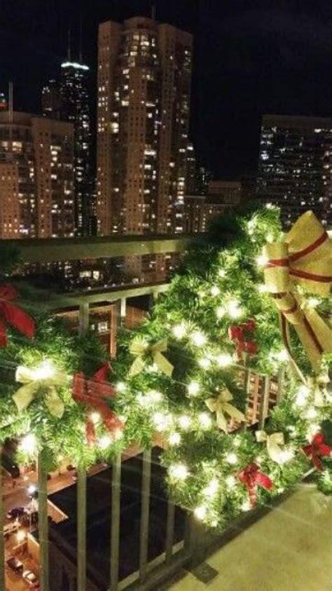 tree christmas balcony decorations