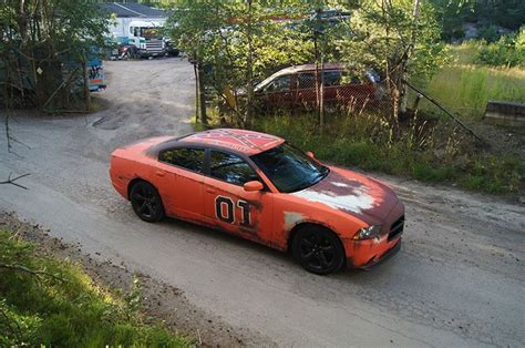 dodge charger  rusted general lee wrap  sweden