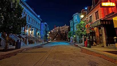 4k Street Night Lights Wallpapersafari Building