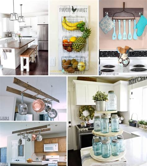 fashioned kitchen accessories diy farmhouse kitchen decor projects 3629
