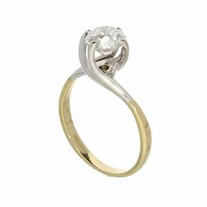 18ct yellow gold diamond twist solitaire miltons diamonds With 2nd hand wedding rings