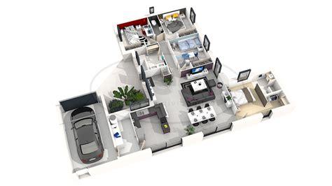 plan villa moderne 3d plan des maison 2 chambre 3d maison moderne