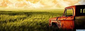 vintage rusty red truck Facebook Cover timeline photo ...