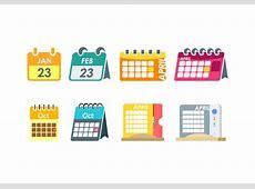 Flat Desktop Calendar Vector Download Free Vector Art