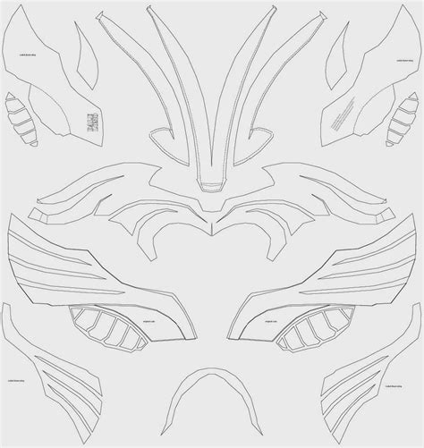 Cardboard Batman Cowl Template
