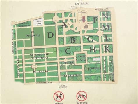 St.Joseph's Catholic Cemetery Plan
