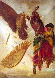 Jatayu Vadham by Raja Ravi Varma - ArtPaintingArtist