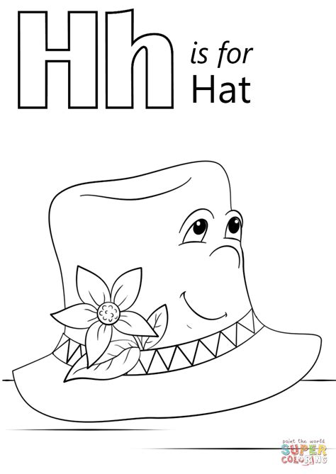 letter    hat super coloring  images abc