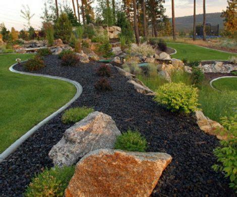 Terrassengestaltung Mit Steinen by Gartengestaltung Mit Steinen Schwarze Steine F 252 R Mehr