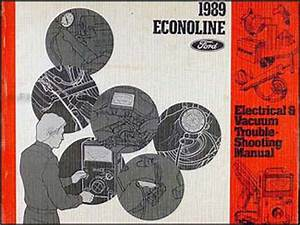 1989 Ford Econoline Foldout Wiring Diagram E150 E250 E350