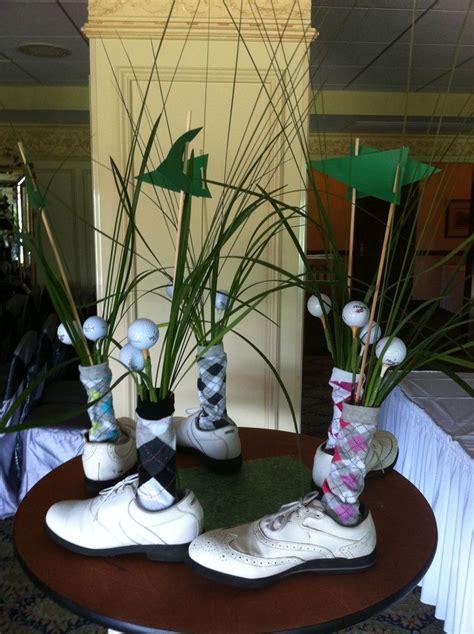 table decorations  golf tournaments golf shoe