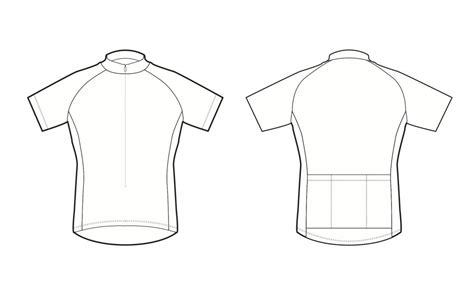 Custom Cycling Jersey Template by Cycling Jersey Design Template Illustrator Templates