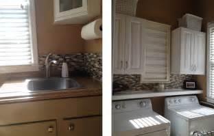 how to install a mosaic tile backsplash in the kitchen casalupoli laundry room update glass mosaic backsplash