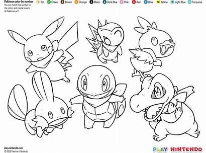Number Pokemon Coloring Printable Nintendo Printables Play