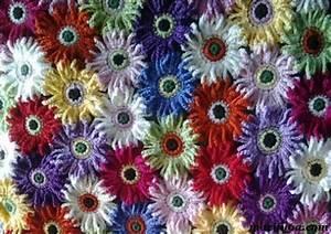 Crochet Pattern  U201ccolorful Daisy Flower Blanket  Afghan