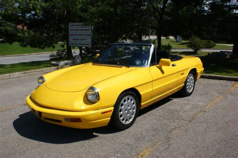 all car manuals free 1993 alfa romeo spider regenerative braking alfa romeo spider convertible 1993 yellow for sale zarbb42n2p7005906 1993 alfa romeo spider veloce