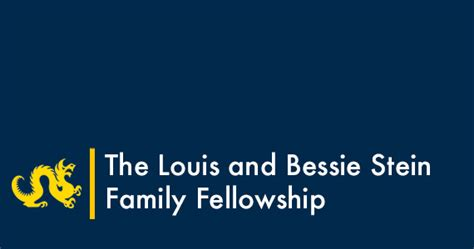 louis  bessie stein family fellowship global
