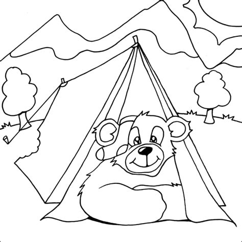 index  camping colouring pages