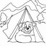 Camping Coloring Pages Sheets Bear Printable Tent Colouring Printables Children Outdoor Themed Activities Fun Colour Section Check Site Main Disney sketch template