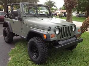 Sell Used 97 Jeep Wrangler Military Themed In Pompano