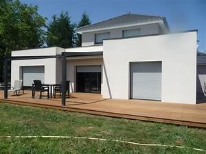 arkobois nos maisons ossatures bois With maison crepis blanc et gris