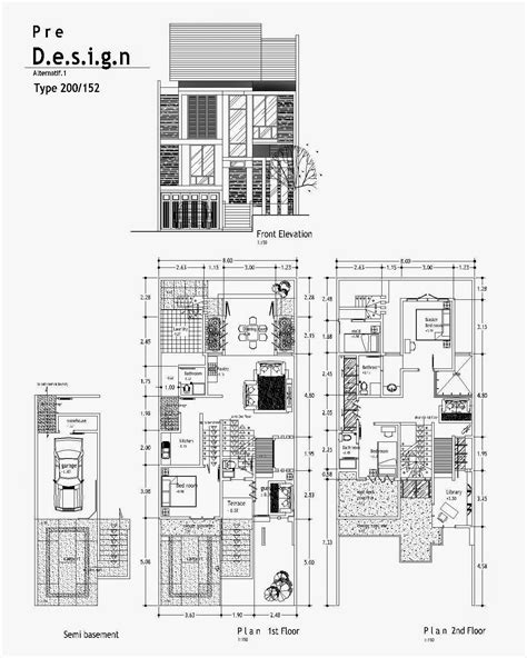 gambar desain rumah minimalis  lantai autocad wallpaper