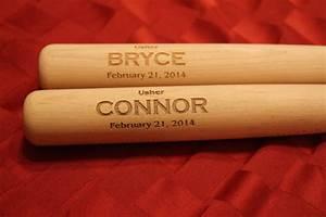 1 Personalized Groomsmen Gift, Engraved Mini Wood Baseball ...