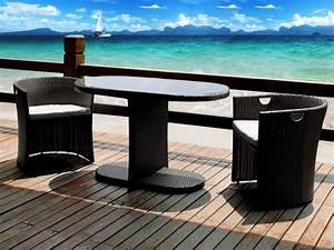Table De Jardin Tressé : salon de jardin pour 2 personnes table chaise exterieur pas cher maison email ~ Teatrodelosmanantiales.com Idées de Décoration
