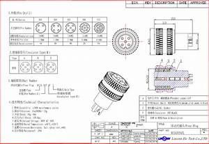 M12 Et M8 Soudure  U00e9lectrique Mini Connecteur 4 Pino 8 Pino