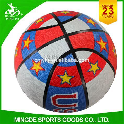 colorful basketball mingde factory custom colorful rubber basketball