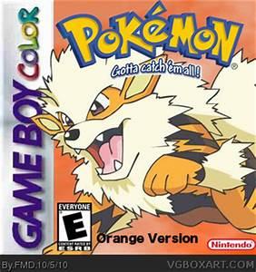 Pokemon Orange Version Game Boy Color Box Art Cover By FMD